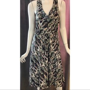 Tracy Reese Cowl Neck Floral drawstring Dress